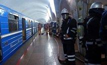 Учения МЧС РА в метро