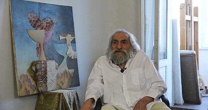 В полотнах Рубена Гевондяна Чаренц уступил свое место Параджанову, а Двин - Ани