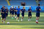 Предматчевая тренировка БАТЭ перед игрой с Алашкертом в Ереване