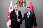 Давид Тоноян и министр внутренних дел Грузии Георгий Мгебришвили