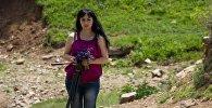 Виктория Максоева. Съемки фильма В отражении вечности