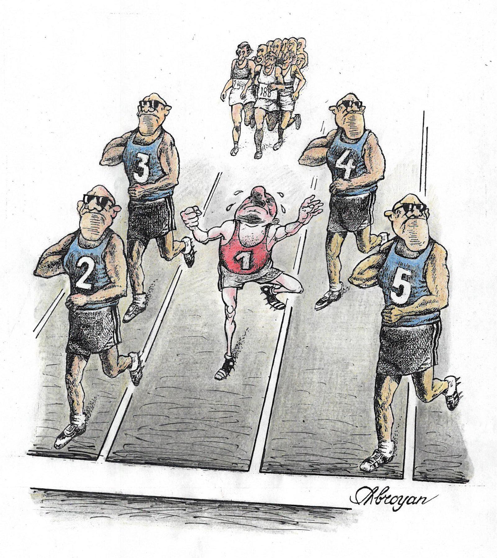 Карикатура Победитель: когда участник - высокое начальство
