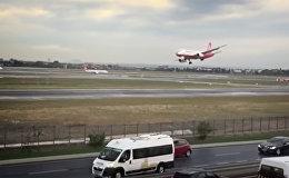 Шокирующие кадры аварийной посадки разбитого самолета в Турции