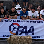 Дрифт шоу в центре Еревана