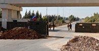 Трасса Хомс-Хама в зоне дислокации Хомс
