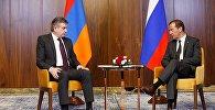 Карен Карапетян и Дмитрий Медведев обсудили вопросы повестки дня армяно-российского сотрудничества