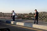 Машина слетела с Моста Победы в Ереване
