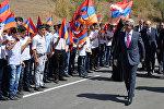 Серж Саргсян вместе с Бако Саакяном присутствовали на церемонии открытия автодороги Варденис-Мардакерт