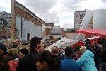 В Балашихе обрушилась стена кинотеатра