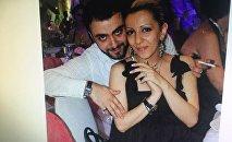 Хорен Левонян с первой с бывшей супругой Мери Ованнисян