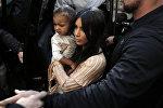 Ким Кардашьян с дочерью Норф Уест