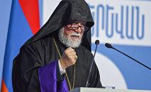 Католикос Киликийский Арам I на форуме Армения-Диаспора