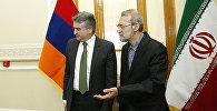 Премьер-министр Армении Карен Карапетян встретился со спикером иранского Меджлиса Али Лариджани