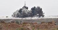 Удары Военно-космических сил России по позициям ИГ