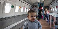 Детский сад в самолете в Грузии
