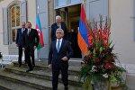 Встреча президентов Армении и Азербайджана Сержа Саргсяна и Ильхама Алиева в Женеве
