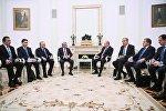 Президент РФ В.Путин встретился с президентом Армении С. Саргсяном