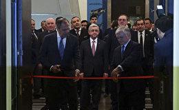 Лавров и Налбандян открыли армяно-российскую выставку в Ереване