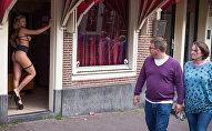Квартал Красных фонарей, Амстердам, Нидерланды