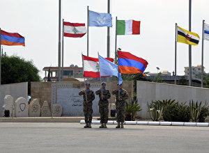 Армянский миротворческий контингент в военной базе Шама в Ливане