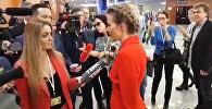 Ксения Собчак пришла на большую пресс-конференцию Владимира Путина