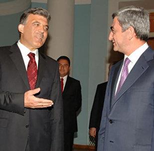 Встреча Президентов Армении Сержа Саргсяна и Турции Абдуллаха Гюля